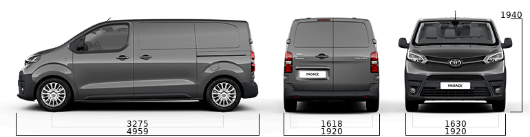 toyota proace sizes